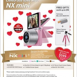FREE gifts worth up to $98 with each purchase of Samsung NX mini