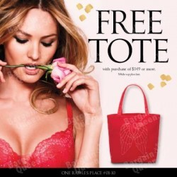 Free Victoria's Secret Red Tote with purchase of $149