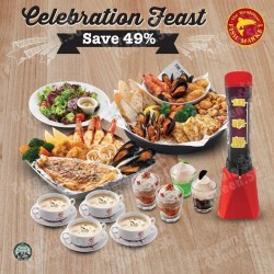 Flaming and Sharing Platters at $79.50 for 4 pax @ The Manhattan FISH MARKET