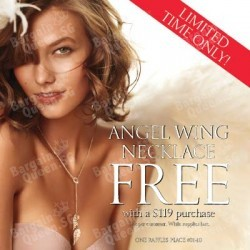 Free Angel Wing Necklace with $119 spend @ Victoria's Secret