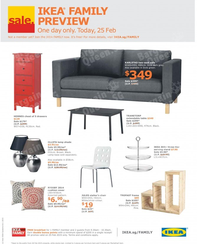 One Day Only Ikea Family Sale Preview Ikea On 25 Feb
