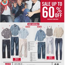 Sale up to 60% off on Select items @ Levi's