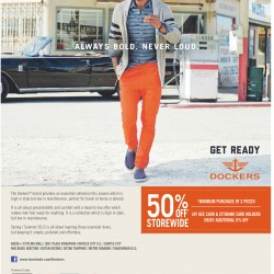 50% off storewide @ Dockers