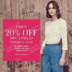 20% off with min. 2 pcs purchase @ Selected F3 stores
