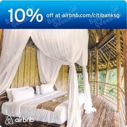10% off bookings on Airbnb with CitiBank cards