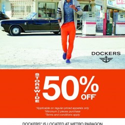 50% off DOCKERS® shirts & pants @ Metro