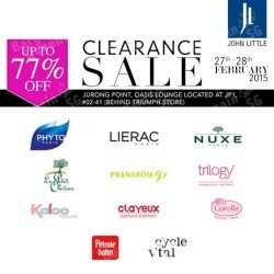 Up to 77% off clearance sale on selected brands @ John Little
