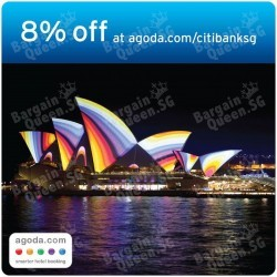 8% off hotels in Australia and New Zealand on Agoda with Citibank Cards