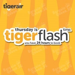 Thursday Tiger flash sale airfare from $34 all-in one way