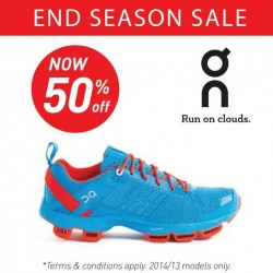 50% off On Cloud running shoes @ Running Lab
