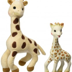 Vulli Sophie Giraffe Set (Soft Toy and Natural Rubber) @Amazon.com