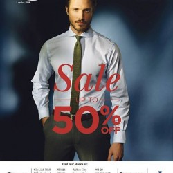 Up to 50% off suits sale @ T.M.Lewin