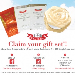 Free gift set from Dr.Ci:Labo when you like their FB / Instagram