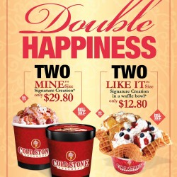 Double Happiness Promotion @ Cold Stone Creamery