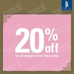 20% OFF all shoppers @ John Little Singapore