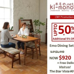 Up to 50% off CNY promotion @ Ki-mono