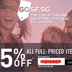 #GOSF2015 15% OFF Regular Priced Items @ Adidas Online