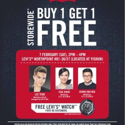 Buy 1 Get 1 Free Promotion @ Levi's Northpoint