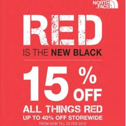 Red Is The New Black Promotion @ The North Face