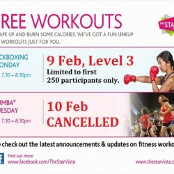 Free Kickboxing Monday @ The Star Vista