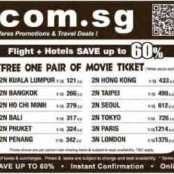 Getaways deals of the week @ airfare.com.sg