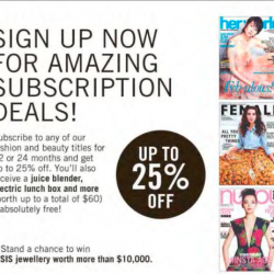 25% off magazines subscription & free gifts @ SPH Magazines