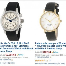Watches for Last-minute Valentine's Day Gifts @Amazon.com