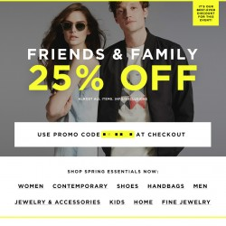 Friends & Family Sale Extended @ Bloomingdales