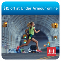 $15 off with every $100 spent at the Under Armour with Citibank cards