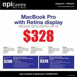MacBook & iPad special at EpiCentre @ IT SHOW 2015