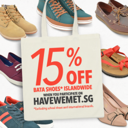 15% off @ Bata shoes when you participate on havewemet.sg