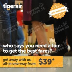 All-in one-way air fares from $39 @ TigerAir