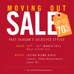 FitFlop Moving Out Sale @ Isetan