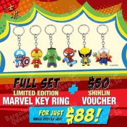 Marvel Key Rings set + $50 vouchers for $88 @ Shihlin Taiwan Street Snacks
