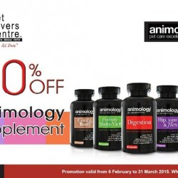 30% off Animology Dog Supplement @ Pet Lovers Centre