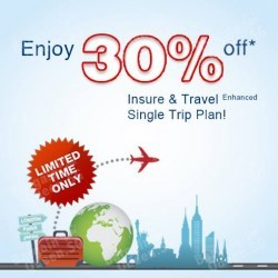 30% off Insure & Travel Enhanced Single Trip Plan via UOB Cards