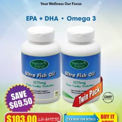 Ultra Fish oil twin pack special buy for $103 @ Nature's Farm