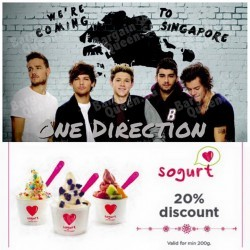 20% off for the entire day @ Sogurt KALLANG WAVE