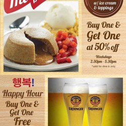 Buy 1 get 1 free promotion @ SYNC Korean Fusion Bistro