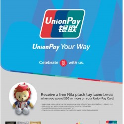 FREE Nila plush toy when you pay with UnionPay