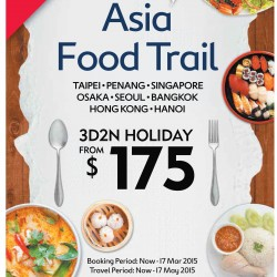 Asia food trail 3D2N holiday from $175 @ Expedia