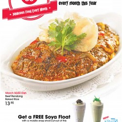 Free Soya float with 2 SG50 dishes order @ Swensens