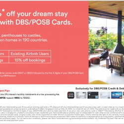 Up to 17% off stay on Airbnb with DBS/POSB cards
