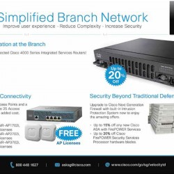 Simplified Branch Network promotion @ Cisco