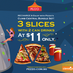$11 for 3 slices and 2 can drinks @ Pezzo Pizza