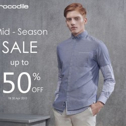 Mid season sale up to 50% off + free voucher @ Crocodile