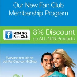 8% off New Zealand Natural products for fan club members