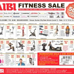 Fitness sale up to 50% off @ AIBI