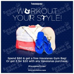 FREE Havaianas Gym Bag with $80 spend @ Common Thread