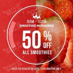 Nutritious Breakfast: 50% Off All Smoothies @ Smoothies King